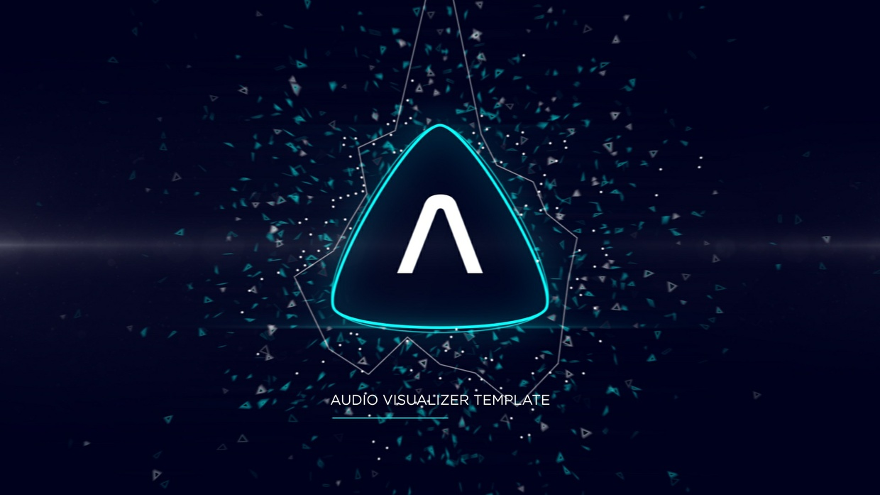 Triangle Music Visualizer [After Effects Template]