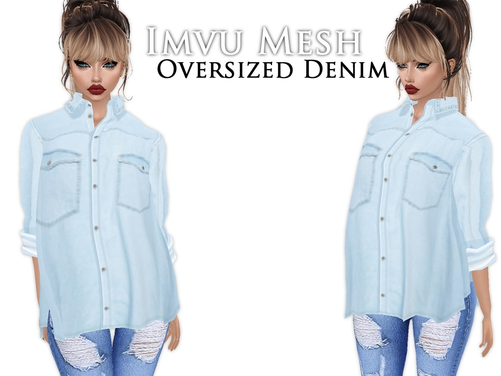 IMVU Mesh - Tops - Oversized Denim