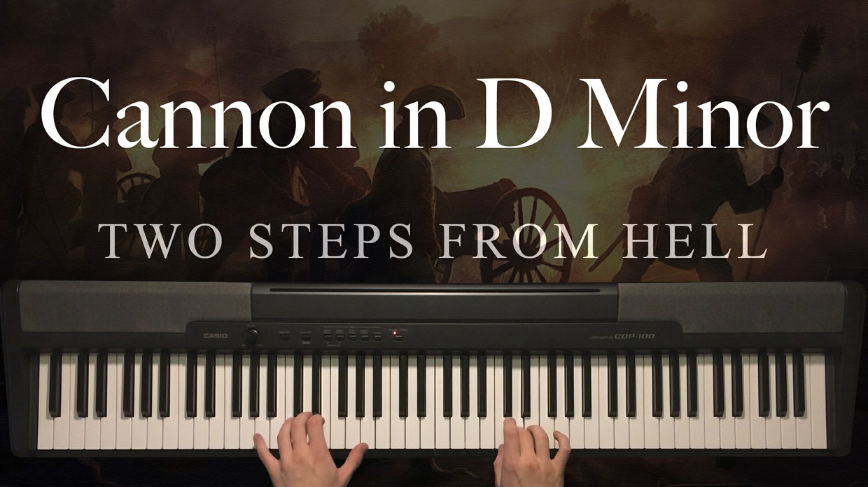 Cannon in D Minor Piano Sheet Music (Two Steps From Hell)