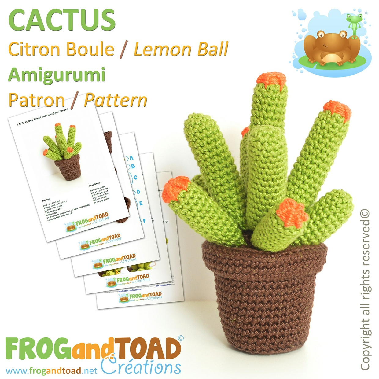 CACTUS Trio Collection - FROGandTOAD Créations ©