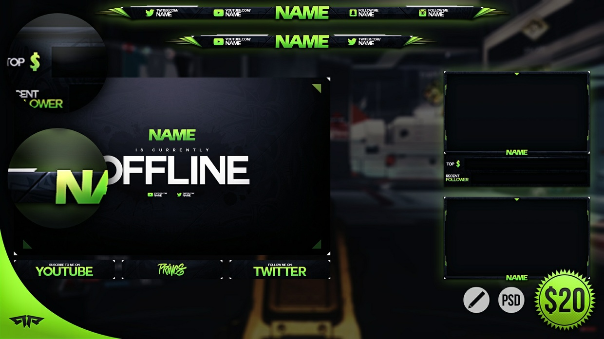 Quot The Overlay Quot Complete Twitch Revamp Template Psd