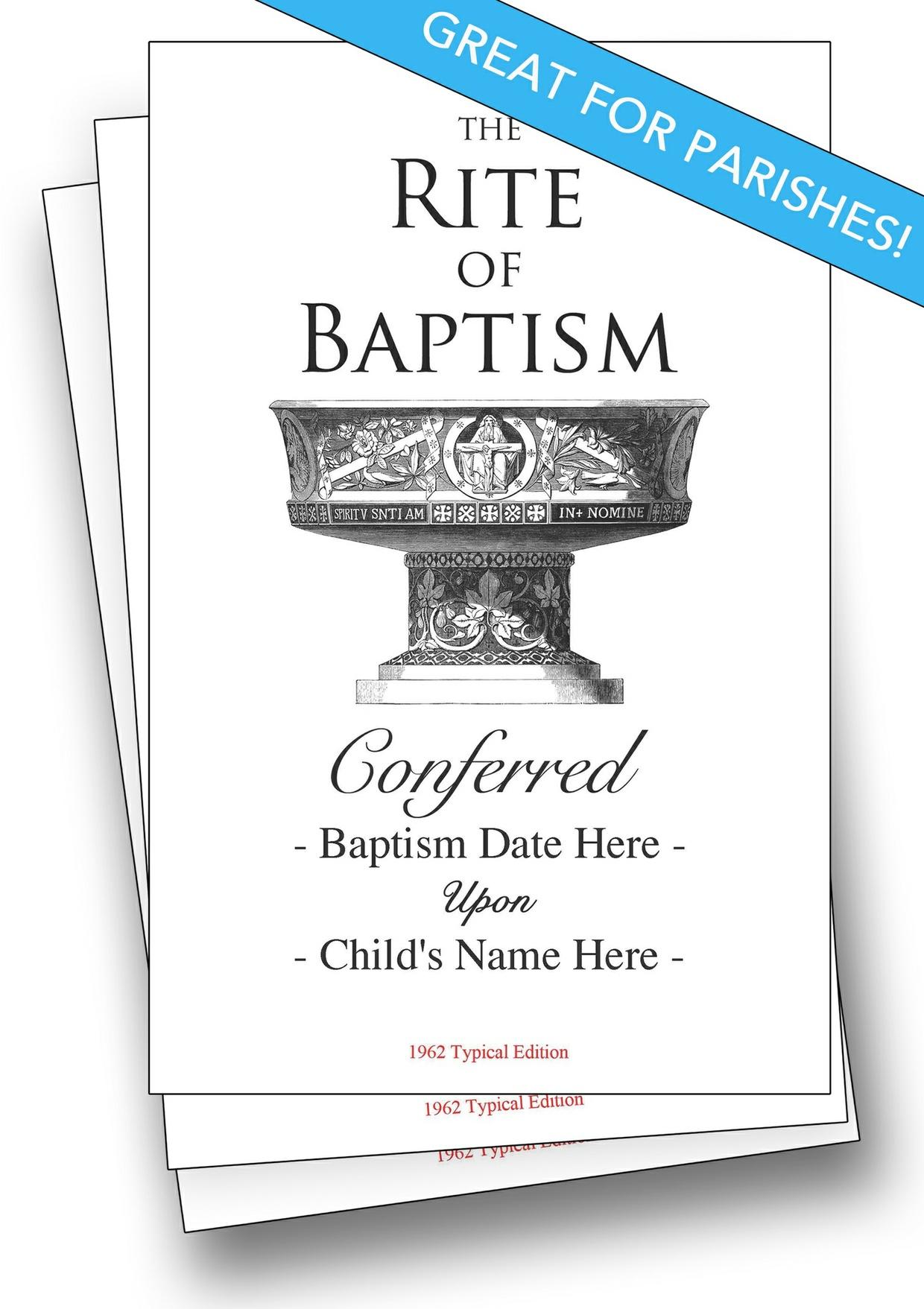 Parish Subscription: Customizable Baptism Program