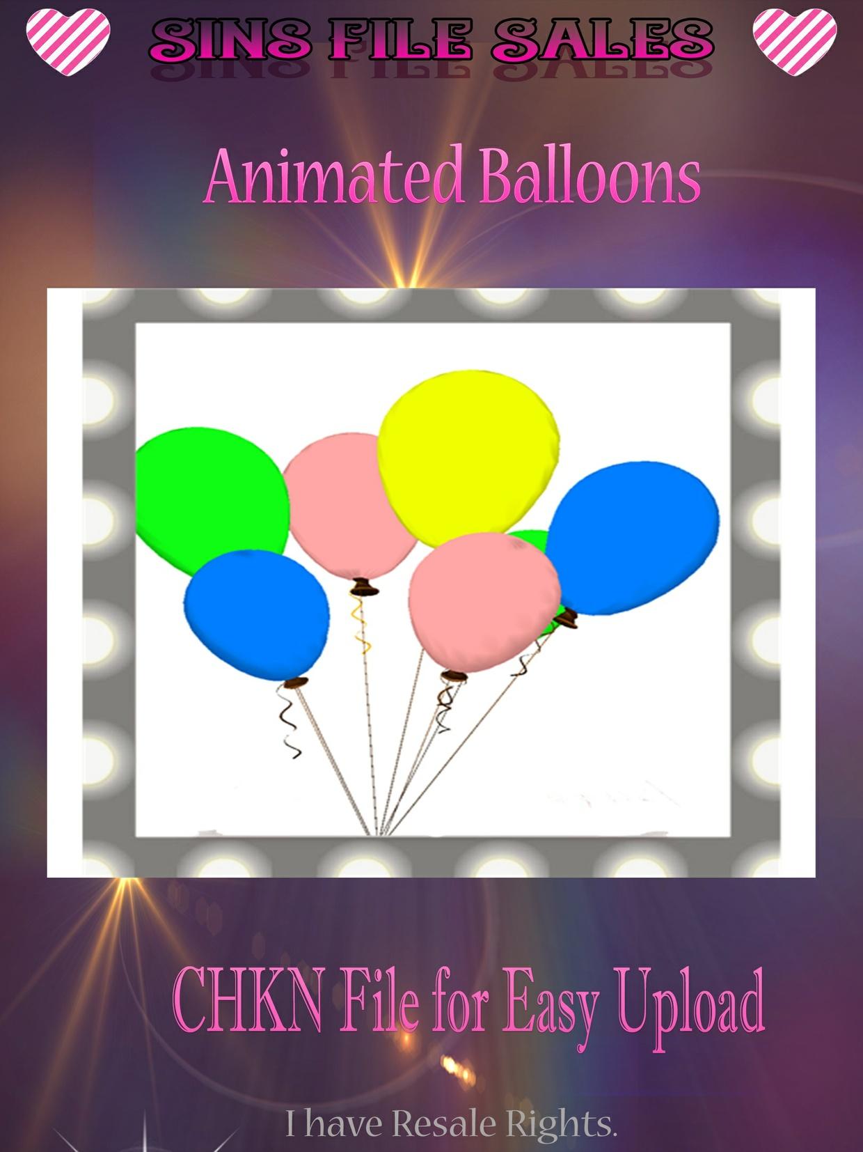Animated Balloons Mesh