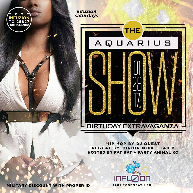 The Aquarius Show - Club Flyer