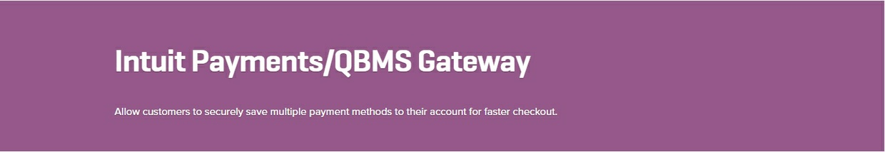 WooCommerce Intuit Payments QBMS Gateway 2.1.1 Extension