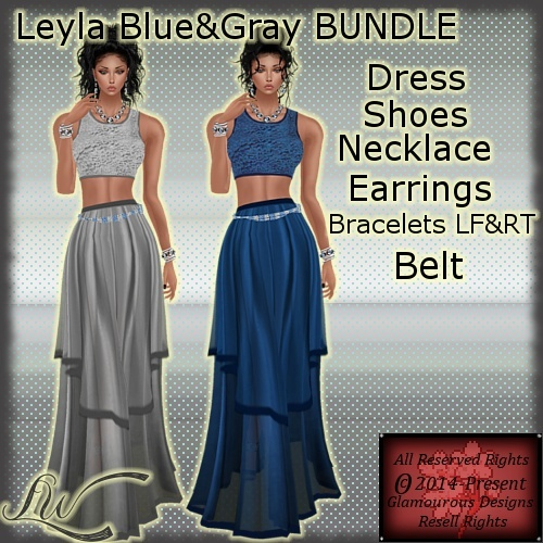 Leyla Blue&Gray BUNDLE-WITH RESELL RIGHTS!!