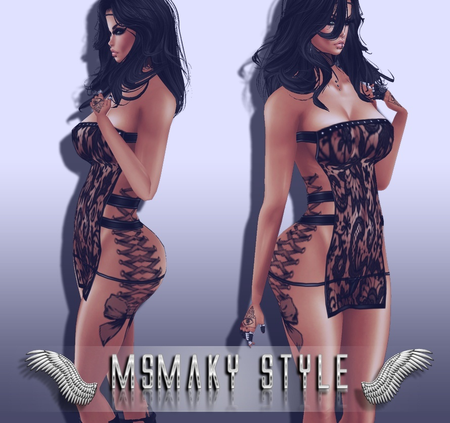 ~ LACE INKED DRESS PSD PACK ~