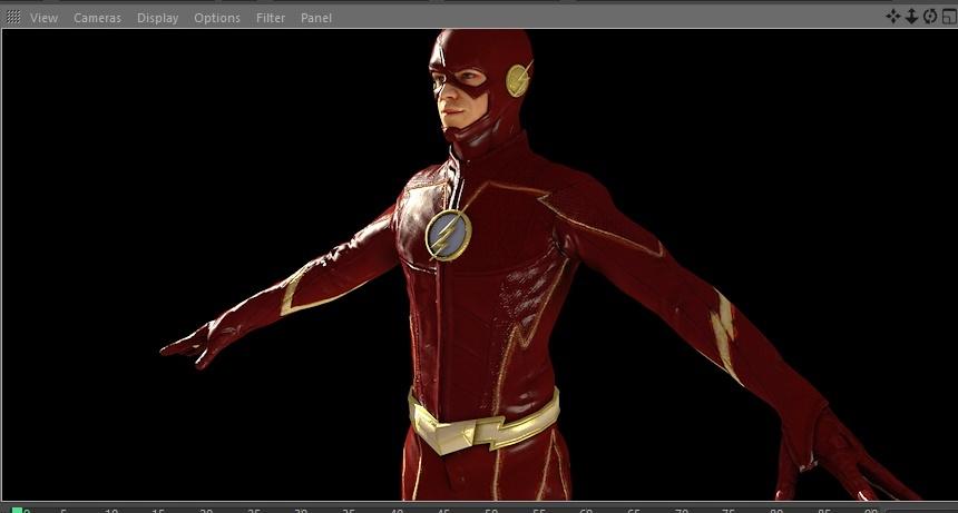 The Flash Season 4 CGI Model for Cinema 4D