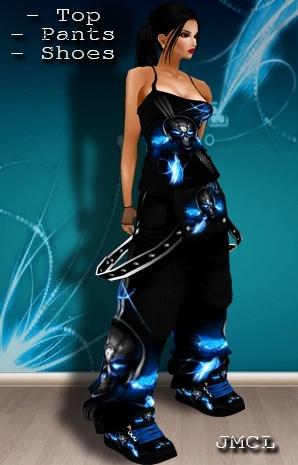 IMVU DJ Skull Outfit Female