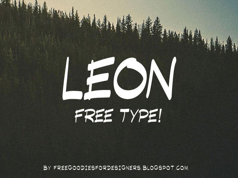 FREE FONT LEON