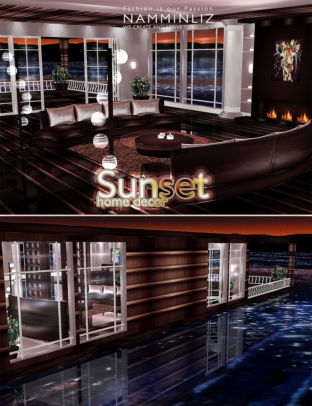 SunSet Home decor imvu 30 Textures PNG FULLY FURNISHED