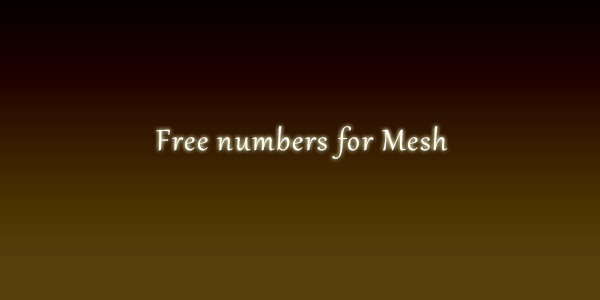Free numbers for Mesh