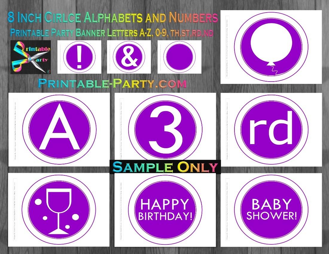 8-INCH-BLACK-TAN-CIRCLE-PRINTABLE-BANNER-LETTERS-A-Z-0-9