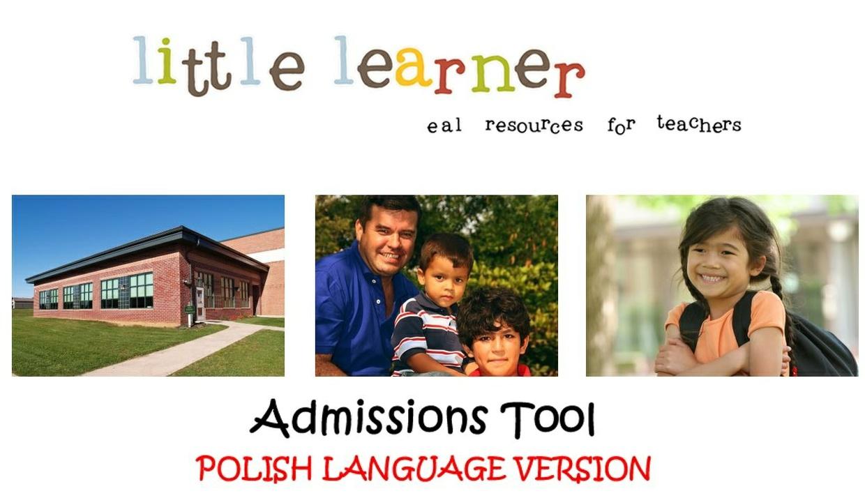 Interactive Communication Tool - Pupil Admissions - Polish / English Language
