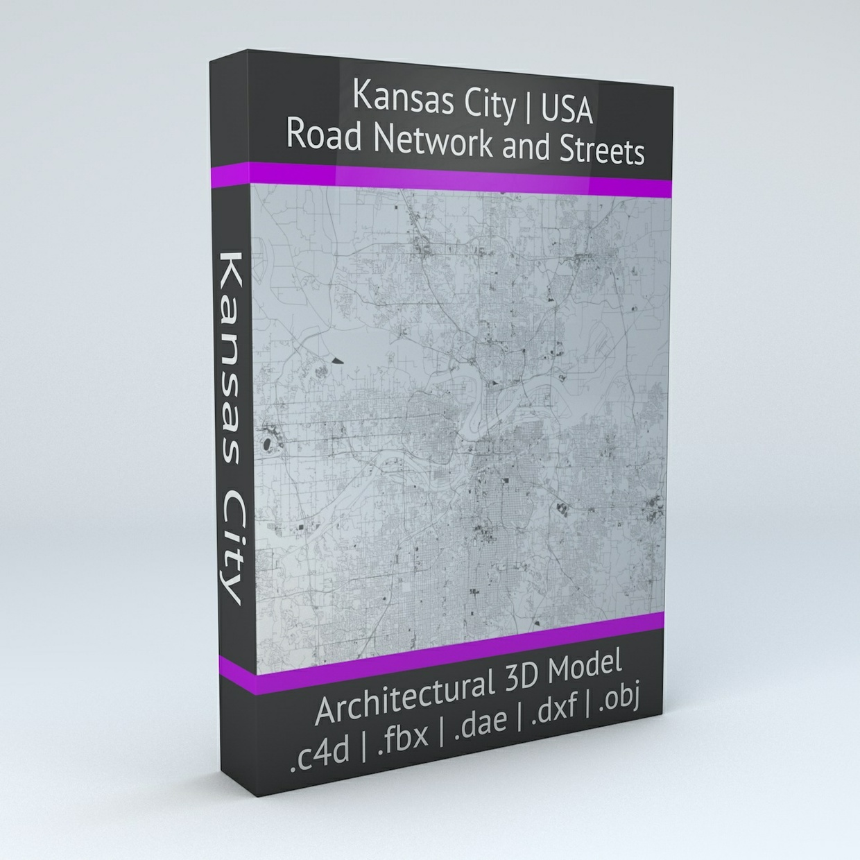 Kansas City Road Network Architectural 3D Model