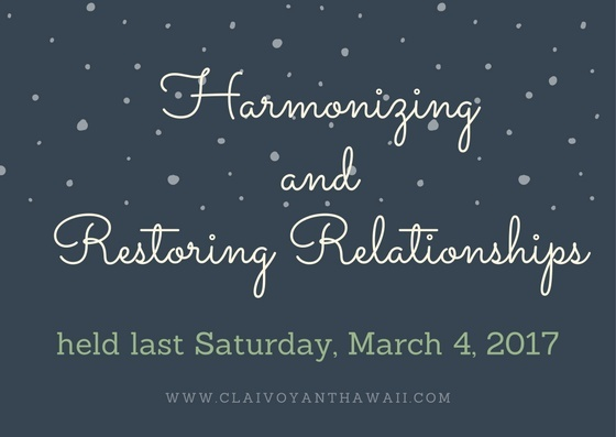 Harmonizing and Restoring Relationships