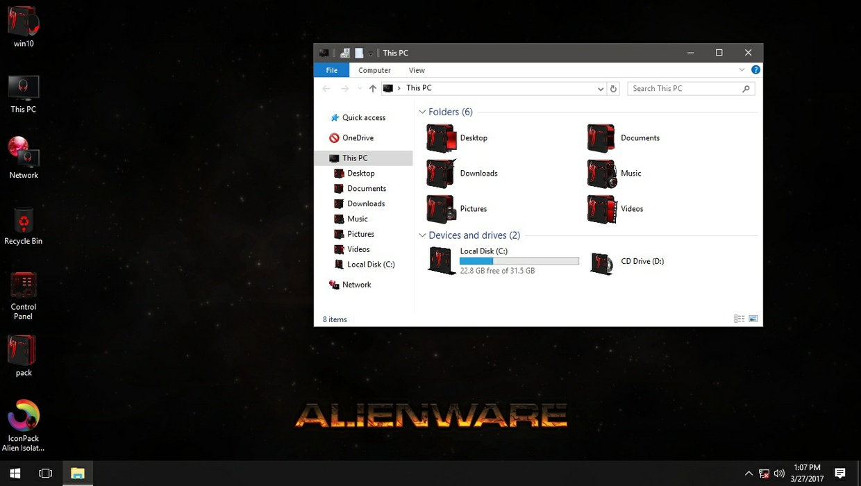 Alien Isolation Red IconPack