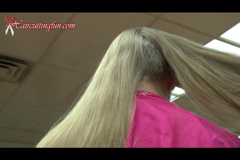 Blonde Sara's Long Hair to Pixie Haircut - VOD Digital Video on Demand Download