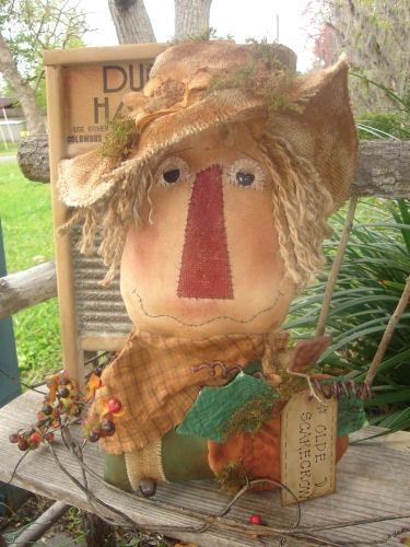 #302 Old Scarecrow Sitter e pattern
