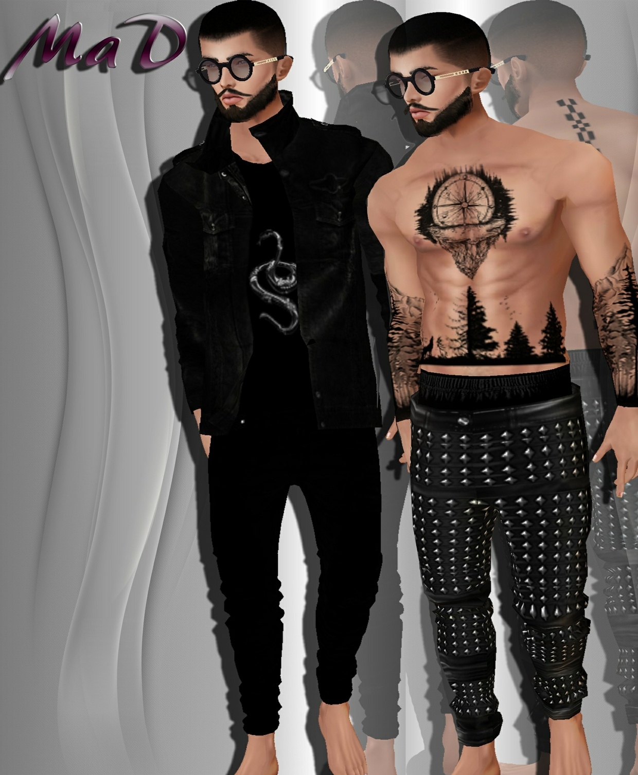 MaD Male Black set + tattoo RESELL RIGHT