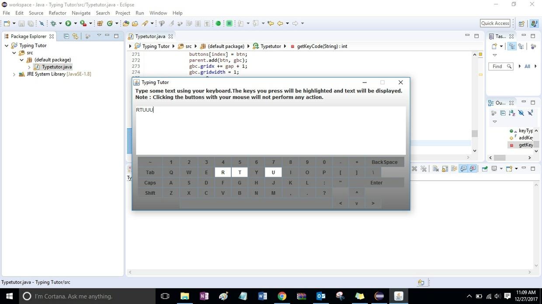 Typing Tutor Solution