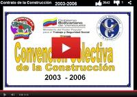 Contrato colectivo de la industria de la construcción venezolana vigente al 2003 2006