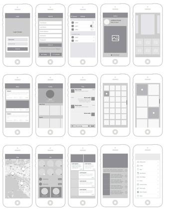 Mobile App Wireframes Mockups Ux