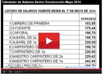 tabulador de salarios de la construccion 2015 2017