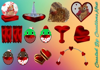 Valentine's Bear Hug Meshes Bundle Resell Rights!!! 0/6 PPL