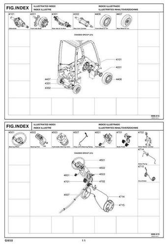 Toyota LPG Forklift Type 8FGCSU20, 8FGCU15, 8FGCU18 Parts Manual