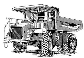 Terex 3360/3360B Off-Highway Truck Service Repair Manual