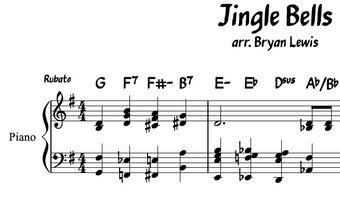 Jingle Bells piano sheet music