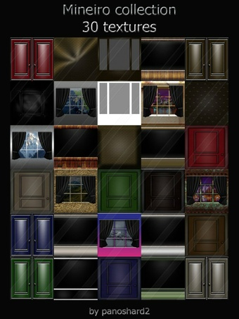 Mineiro collection 30 textures for imvu room