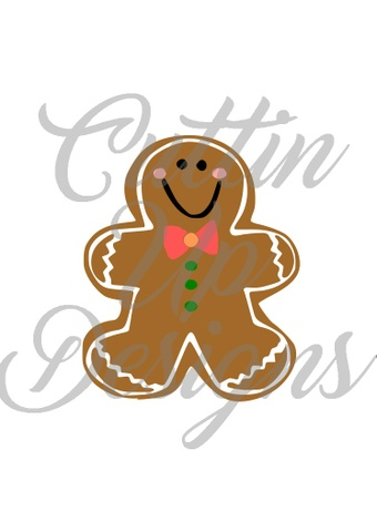 Gingerbread Man Christmas SVG Cutting File Cricut or Cameo
