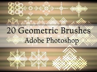 20 Geometric Brushes for Photoshop