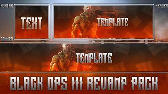 Black Ops III - Photoshop Revamp Template Pack