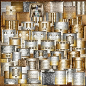 ❀ ❀  SILVER -GOLD TEXTURE ROOM ❀ ❀