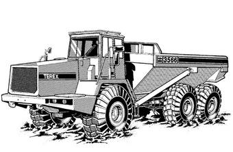 Terex 3566 & 4066C Articulated Dumptruck Service Repair Manual