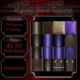 Room Textures -- Majestic (RESALE)