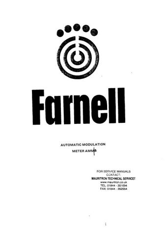 Farnell AMM Instructions