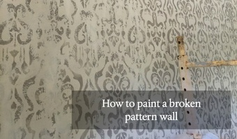 How to Paint a Broken Pattern Wall
