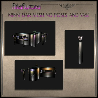 Mesh Valentine Mini Bar no pose+ Vase.No Resell