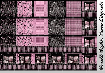 Retro Pink Textures Catty Only!!!!