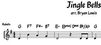 Jingle Bells lead sheet