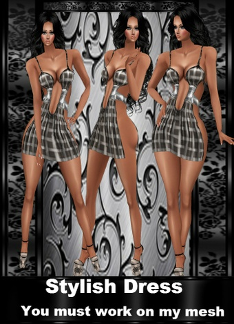 Stylish DRESS PROVIDED TEXTURES