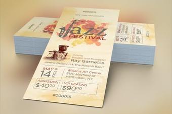 Jazz Concert Ticket Template