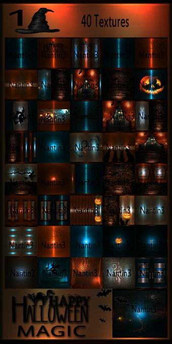 HALLOWEEN MAGIC 1 FILES 41Textures 256x256jpg