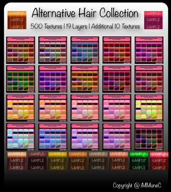 500 Alternative Hair Textures