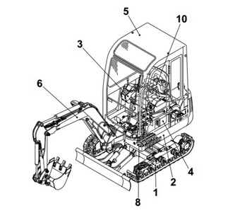 Takeuchi TB1140 Compact Excavator Parts Manual (Serial No.51410002-)