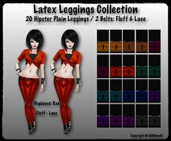 20 Hipster Plain Latex Leggings
